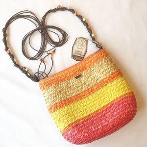 Sand & Sun Crossbody Bag NWT Orange Pink Beaded